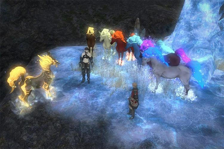 Kirin mount and all ponies / FFXIV