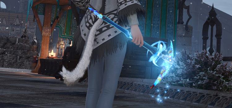 Mining Skysteel Tool in Final Fantasy XIV