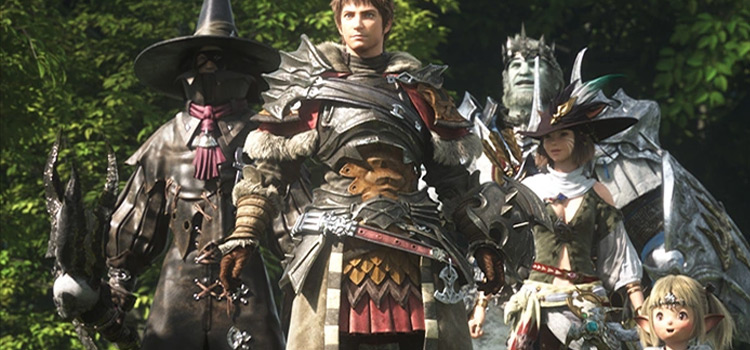 Heroes Party characters in FFXIV