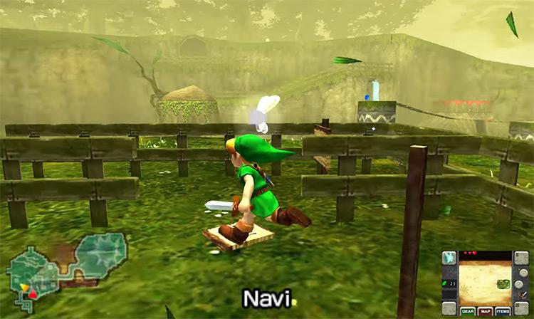 The Legend of Zelda: Ocarina of Time 3D gameplay