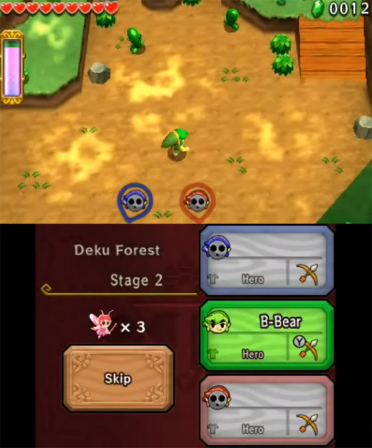 Triforce Heroes gameplay for 3DS