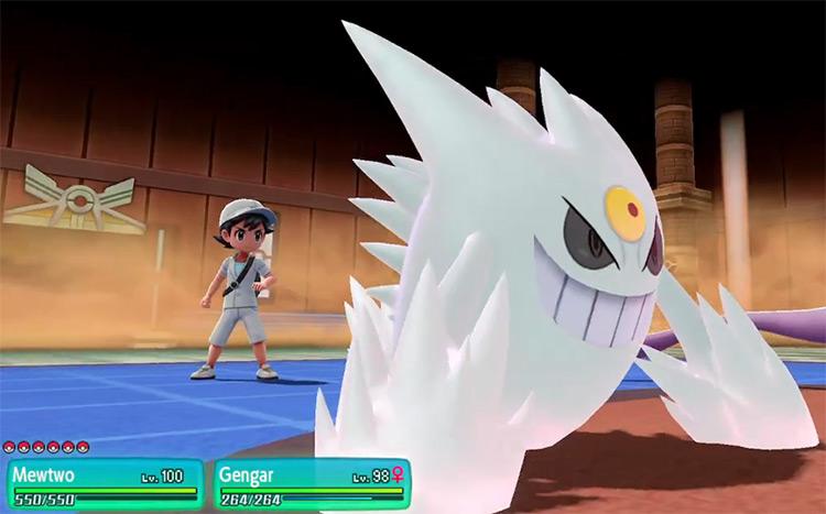 Shiny Mega Gengar in Pokémon: Let's Go, Pikachu!