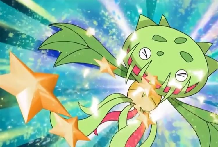 Carnivine Pokemon screenshot from the anime