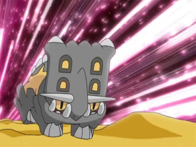 Bastiodon from the Pokemon anime