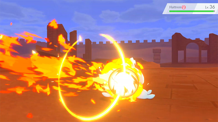 Pyro Ball screenshot from Pokémon Sword and Shield