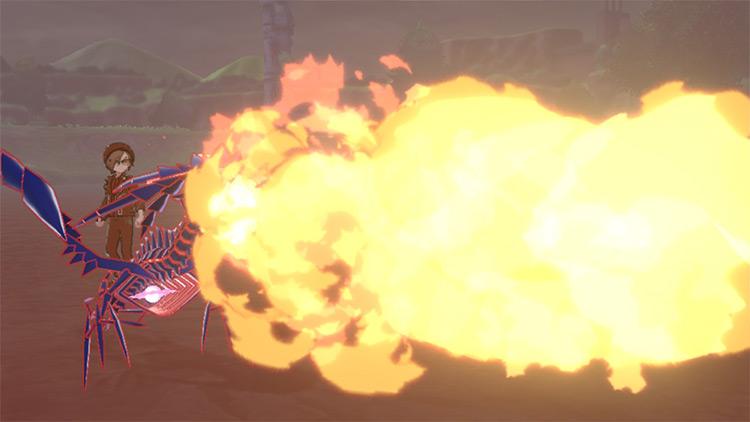 Flamethrower / Pokémon move in Sword/Shield