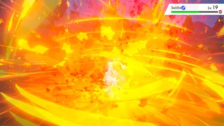 Flare Blitz in Pokémon Sword and Shield