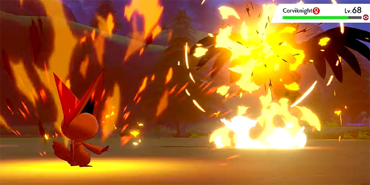 Searing Shot in Pokémon Sword and Shield