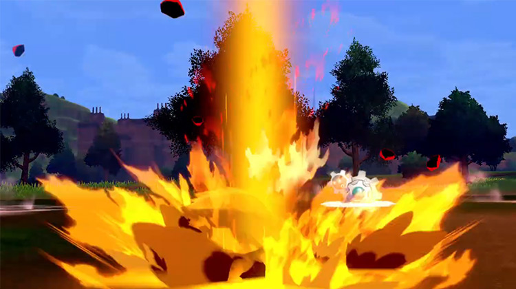 Lava Plume Pokémon move screenshot