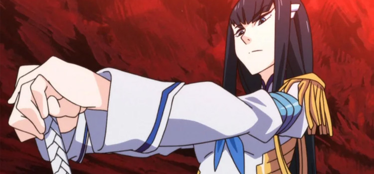Satsuki serious expression from Kill La Kill