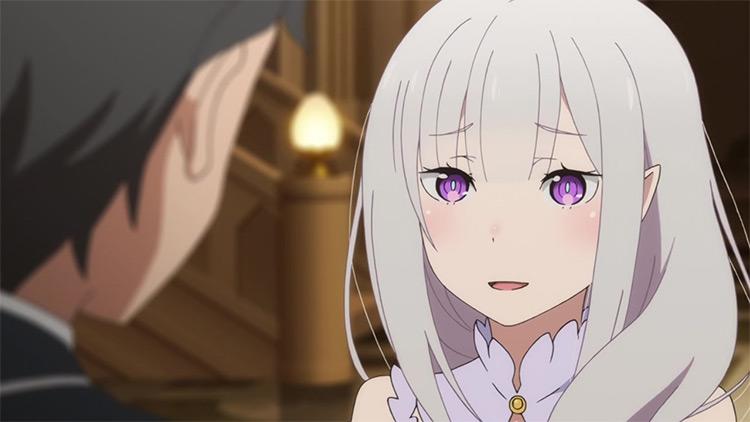 Emilia from Re: Zero anime
