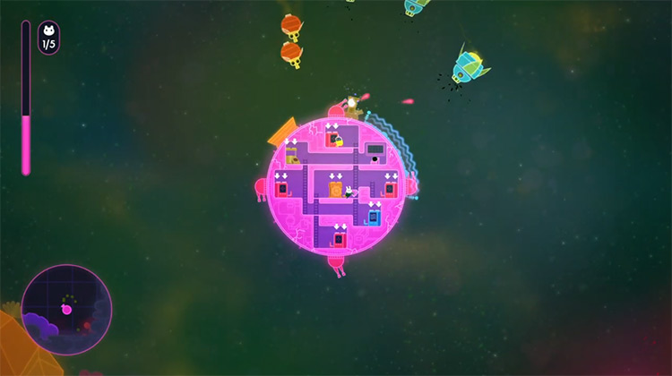 Lovers in a Dangerous Spacetime / Xbox One screenshot
