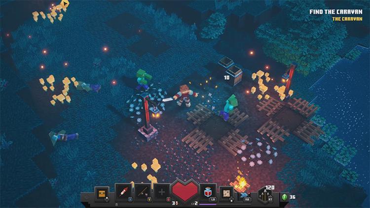Minecraft Dungeons / Xbox One gameplay
