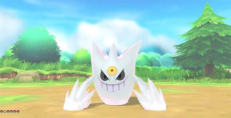 Shiny Mega Gengar in Pokémon: Let's Go, Pikachu