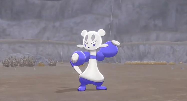 Shiny Mienfoo in Pokémon Sword and Shield