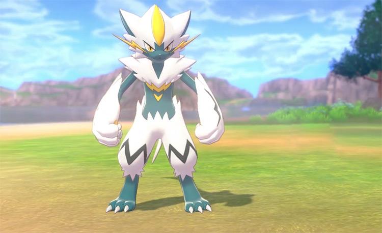 Shiny Zeraora in Pokémon Sword and Shield