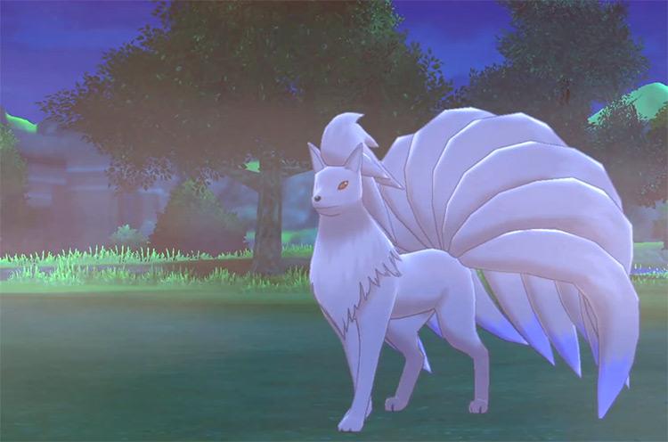 Shiny Ninetales in Pokémon Sword and Shield