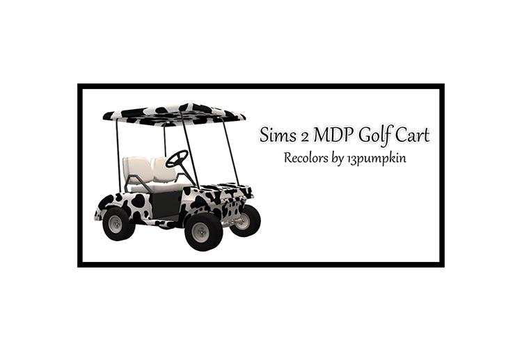 Golf Cart Object / Sims 4 CC