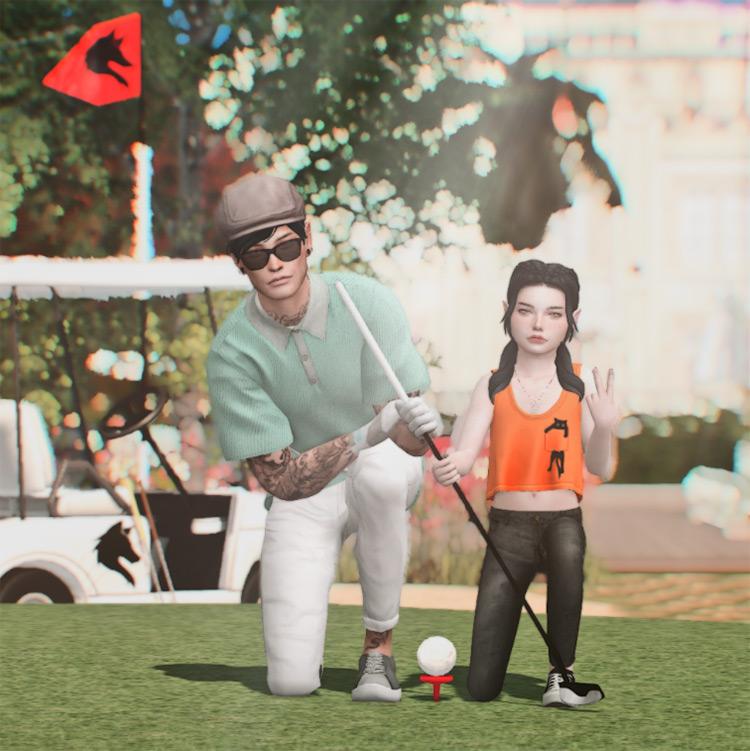 Let's Play Golf Posepack / TS4 CC