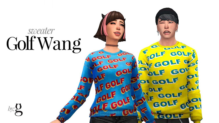 Golf Sweater Design for The Sims 4