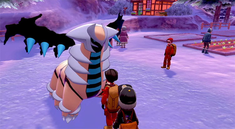 Shiny Giratina - Altered Form in Pokémon Sword & Shield