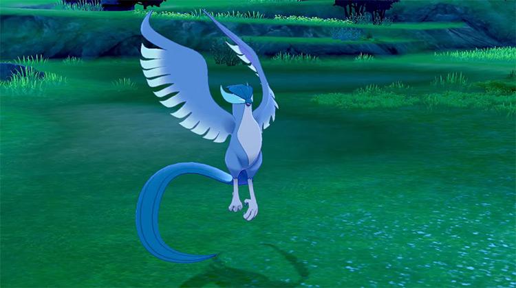 Shiny Galarian Articuno in Pokémon Shield