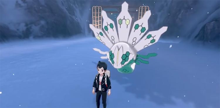 Shiny Zygarde in Pokémon Sword and Shield