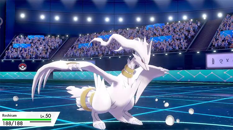 Shiny Reshiram in Pokémon Sword and Shield
