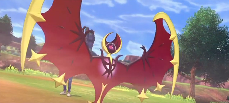 Shiny Lunala in Pokémon Shield