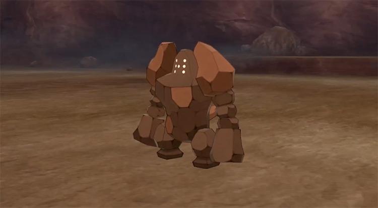 Shiny Regirock in Pokémon Sword & Shield
