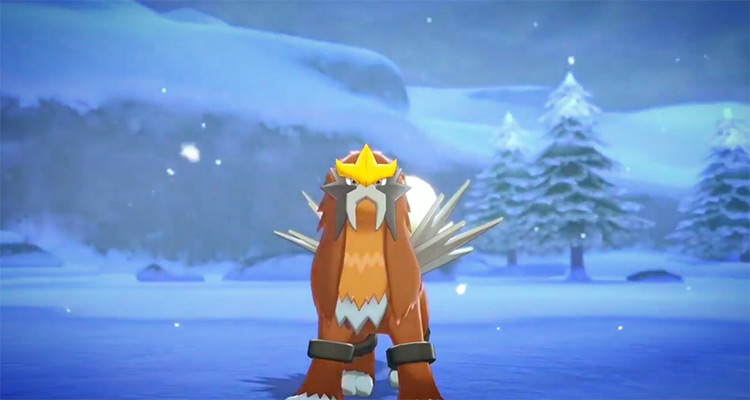Shiny Entei in Pokémon Sword/Shield