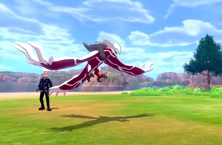 Shiny Yveltal in Pokémon Sword/Shield