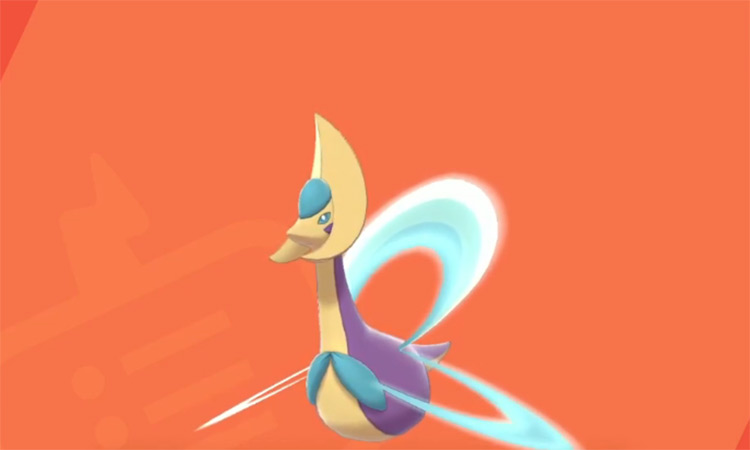 Shiny Cresselia in Pokémon Sword