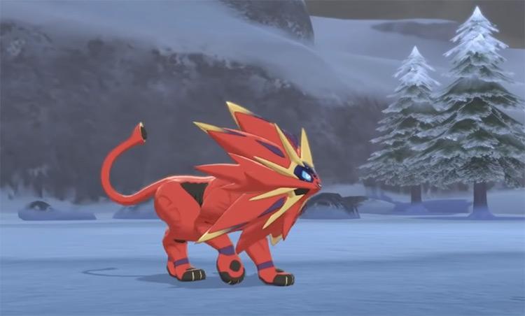 Shiny Solgaleo in Pokémon Sword and Shield