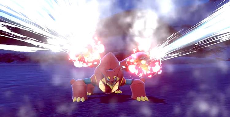 Steam Eruption move / Pokémon Sword Screenshot
