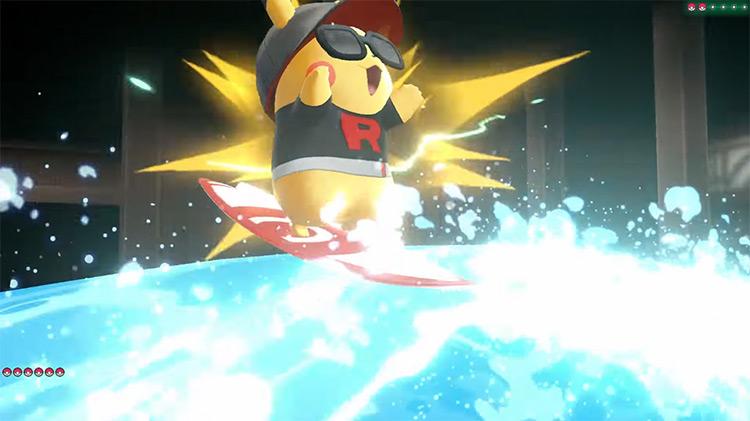 Splishy Splash move in Pokémon: Let's Go, Pikachu!