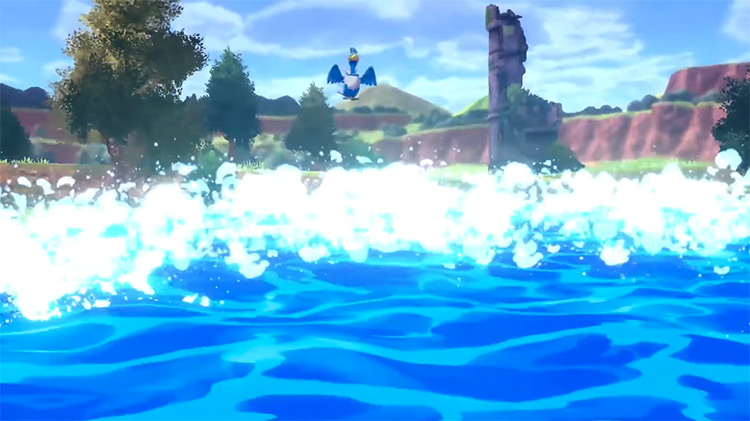 Surf move in Pokémon Sw/Sh