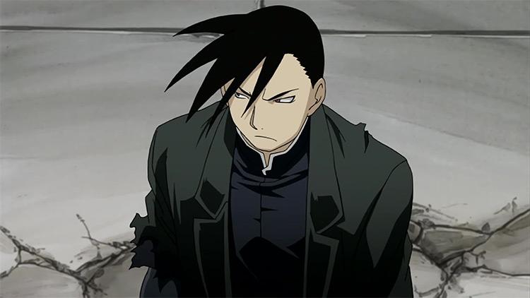 Greed from Fullmetal Alchemist: Brotherhood anime