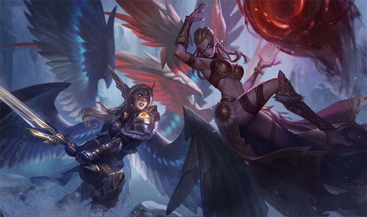 Exiled Morgana skin splash art