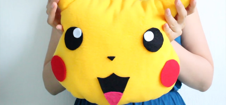 Pikachu pillow custom diy
