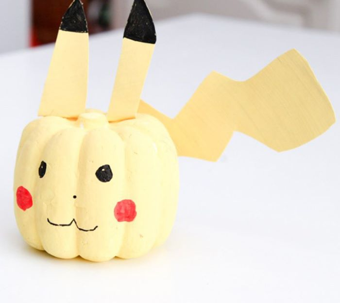 Pikachu shaped pumpkin