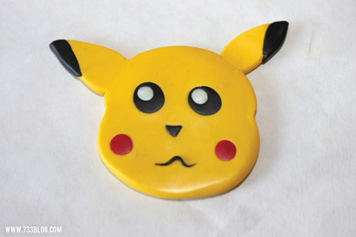 Clay pikachu ornament