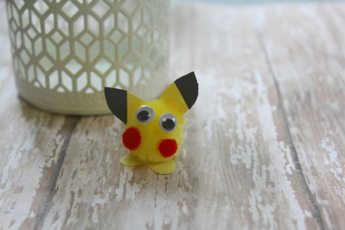 Fuzzy pikachu craft