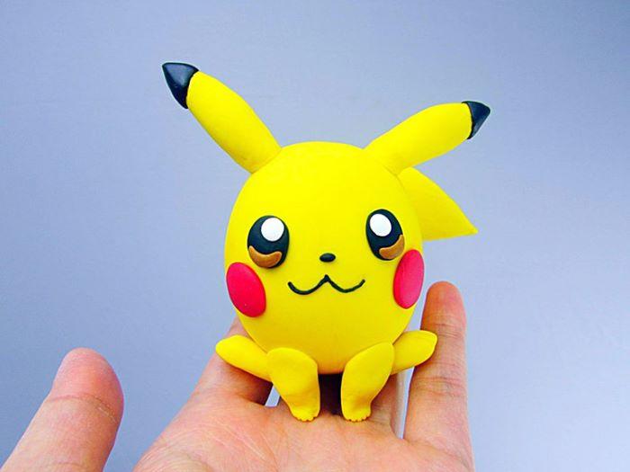 Polymer Clay pikachu design figurine