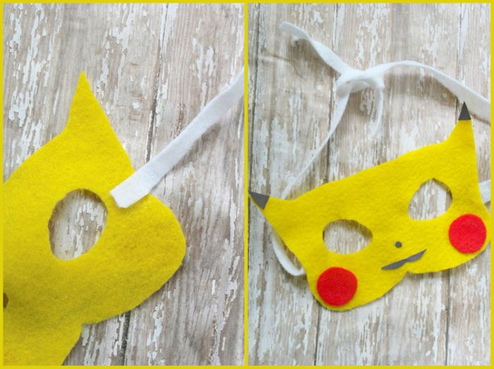 Pikachu design felt mask