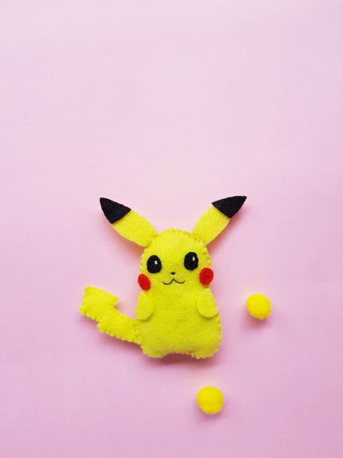 Pikachu design felt plush toy
