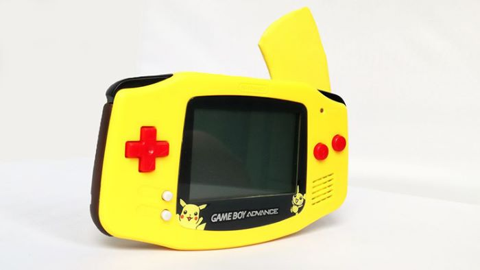 Pikachu design GBA cover