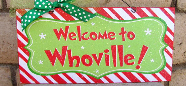 Whoville Grinch door sign DIY