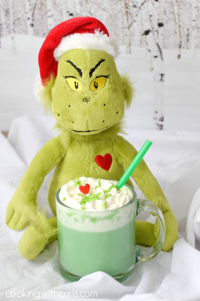 Grinch inspired hot chocolate drink