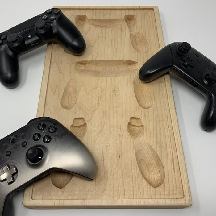 Coexist wooden controller holder